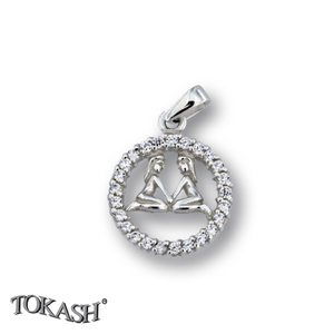 Silver pendants with CZ - 174696