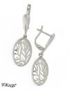 Silver Earings stones 128080
