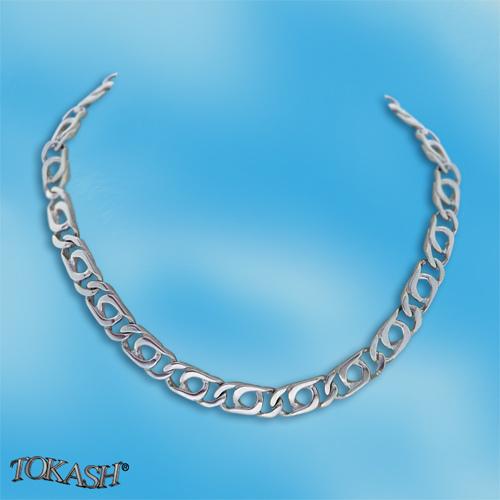 Silver necklace 700029