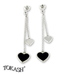Silver earrings without stones - 110116