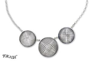 Silver necklace 701134