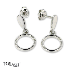 Silver earrings without stones - 111121