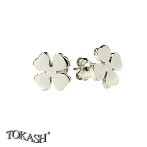 Silver earrings without stones - 111123