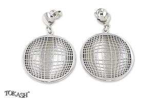 Silver Earings stones 128134