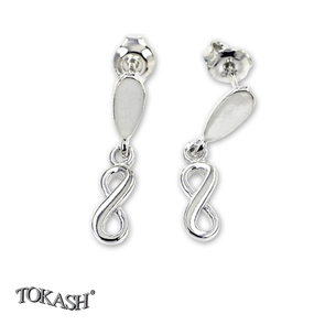 Silver earrings without stones - 111125