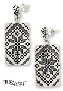 Silver Earings stone 131103