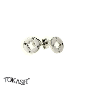 Silver earrings without stones - 111124