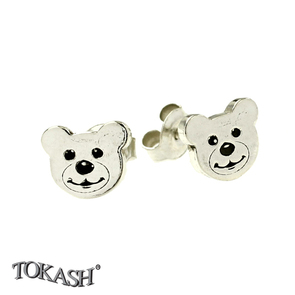 Silver earrings without stones - 111113