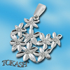 Silver pendants with CZ - 174379