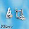Silver earrings with CZ - 114146