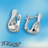 Silver earrings with CZ - 114110