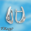 Silver earrings with CZ - 114141