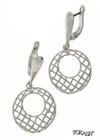 Silver Earings stones 128079