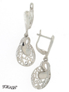 Silver Earings stones 128084