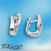 Silver earrings with CZ - 114148