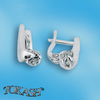 Silver earrings with CZ - 114147