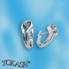 Silver earrings with CZ - 114170