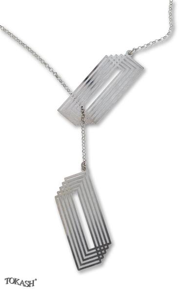Silver necklace 607035