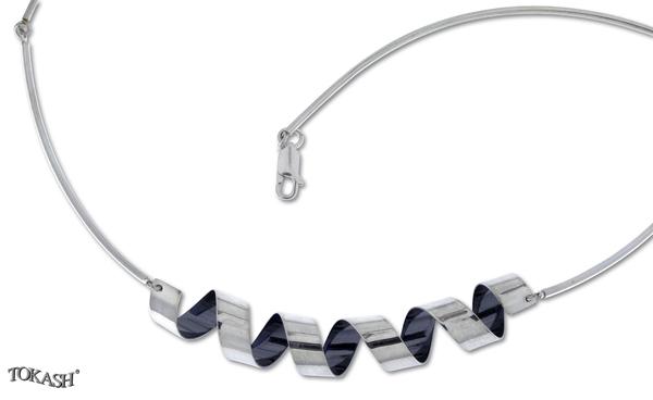 Silver necklace 407058