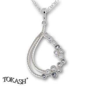 Silver pendants with CZ - 174675