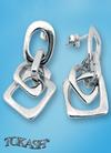 Silver Earings stone 131112
