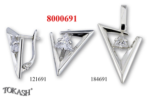 New models silver jewеllery - 8000691