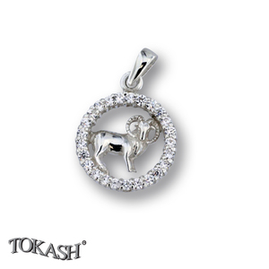 Silver pendants with CZ - 174694