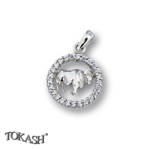 Silver pendants with CZ - 174695